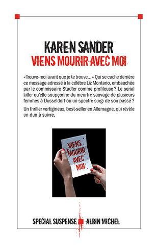 Karen Sander - Viens mourir avec moi (2017)